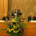 Открытие Румянцевских чтений. Слева направо: Л.Н.Тихонова, А.И.Вислый, С.М.Миронов