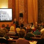 Участники конференции слушают выступление С.М.Миронова